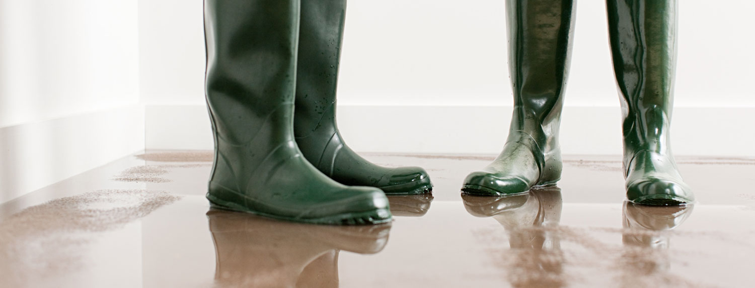 rainboots in a flooded room